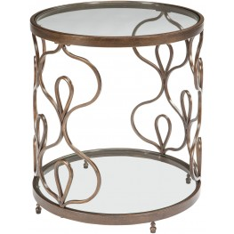 Fraloni Bronze Round End Table