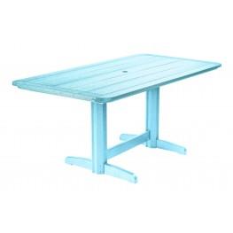 "Generations Aqua 36"" Double Pedestal Dining Table"