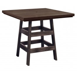 "Generation Chocolate 42"" Square Pub Table"