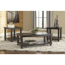 Mallacar Black 3 Piece Occasional Table Set