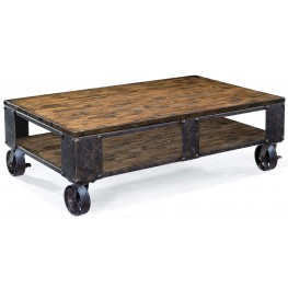 Pinebrook Rectangular Cocktail Table with 2 braking casters