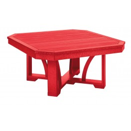 """St Tropez Red 35"""" Square Cocktail Table"""