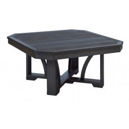 """St Tropez Black 35"""" Square Cocktail Table"""