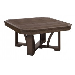 """St Tropez Chocolate 35"""" Square Cocktail Table"""