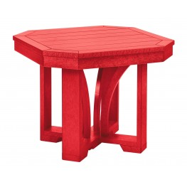 """St Tropez Red 25"""" Square End Table"""