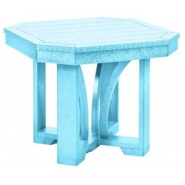"""St Tropez Aqua 25"""" Square End Table"""