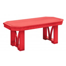 """St Tropez Red 42"""" Rectangular Cocktail Table"""