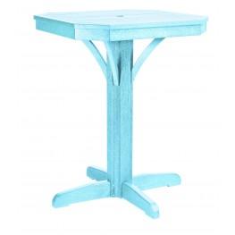 """St Tropez Aqua 28"""" Square Counter Pedestal Table"""