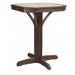 "St Tropez Chocolate 28"" Square Counter Pedestal Table"