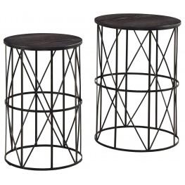 Marxim Dark Bronze Nesting End Tables Set Of 2