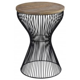 Marxim Black Round End Table