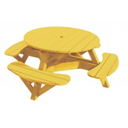 """Generations Yellow 51"""" Round Picnic Table"""