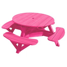 "Generations Fuschia 51"" Round Picnic Table"