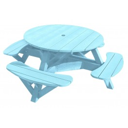 "Generations Aqua 51"" Round Picnic Table"