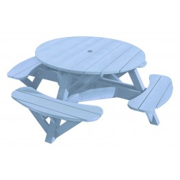 """Generations Sky Blue 51"""" Round Picnic Table"""
