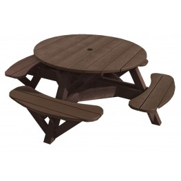 "Generations Chocolate 51"" Round Picnic Table"