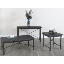 Grand Cosway Worn Black Occasional Table Set