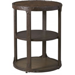 Shofern Rustic Brown Round End Table
