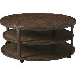 Shofern Rustic Brown Round Cocktail Table