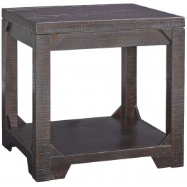 Rogness Brown Rectangular End Table