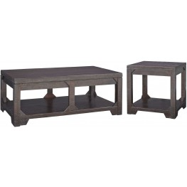 Rogness Brown Ocassional Table Set