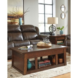 Harpan Reddish Brown Occasional Table Set