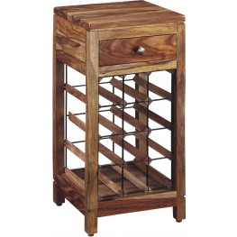 Abbonto Warm Brown Wine Cabinet