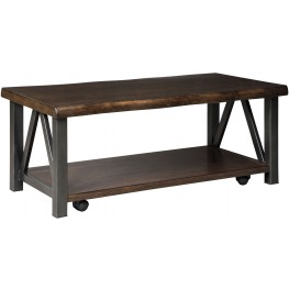 Esmarina Walnut Brown Rectangular Cocktail Table