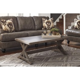 Valkner Grayish Brown Occasional Table Set