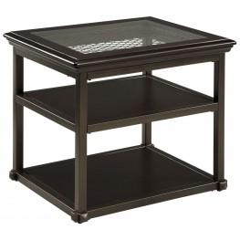 Florentown Dark Brown Rectangular End Table