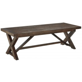 Windville Dark Brown Rectangular Cocktail Table