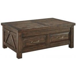 Windville Dark Brown Storage Cocktail Table