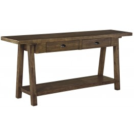 Dondie Rustic Brown Sofa Table