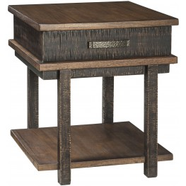 Stanah Two-tone Rectangular End Table