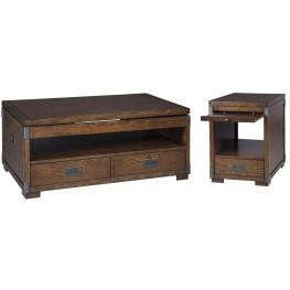 Jakeley Medium Brown Occasional Table Set