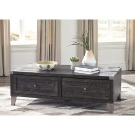 Todoe Dark Gray Lift Top Occasional Table Set