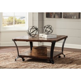 Taddenfeld Medium Brown Square Occasional Table Set