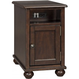 Barilanni Dark Brown Chairside End Table