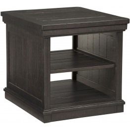 Sharlowe Worn Dark Charcoal Rectangular End Table
