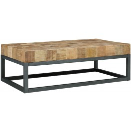 Prinico Two Tone Rectangular Cocktail Table