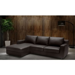 Taylor Brown Leather LAF Sectional