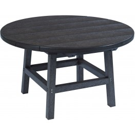"""Generations Black 32"""" Round Cocktail Table"""