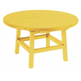 """Generations Yellow 32"""" Round Leg Cocktail Table"""