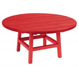 """Generations Red 37"""" Round Leg Cocktail Table"""