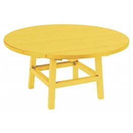 """Generations Yellow 37"""" Round Leg Cocktail Table"""