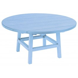 """Generations Sky Blue 37"""" Round Leg Cocktail Table"""