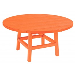 "Generations Orange 37"" Round Leg Cocktail Table"