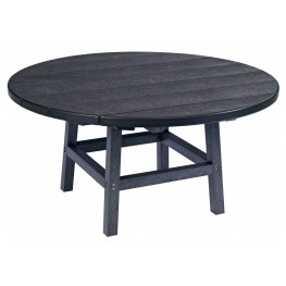"Generations Black 37"" Round Leg Cocktail Table"