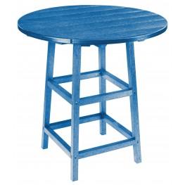 "Generations Blue 32"" Round Leg Pub Height Table"
