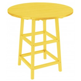 """Generations Yellow 32"""" Round Leg Pub Height Table"""